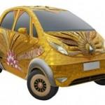 تحولت من أرخص سيارة إلى الأغلى..سيارة هندية من الذهب الخالص ومرصعة بأغلي الاحجار الكريمة